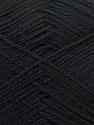 Fiber Content 60% Merino Wool, 40% Acrylic, Brand ICE, Black, Yarn Thickness 2 Fine  Sport, Baby, fnt2-21088