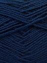Fiber Content 55% Virgin Wool, 5% Cashmere, 40% Acrylic, Navy, Brand ICE, Yarn Thickness 2 Fine  Sport, Baby, fnt2-21123
