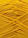 Fiber Content 100% Mercerised Cotton, Yellow, Brand ICE, Yarn Thickness 2 Fine  Sport, Baby, fnt2-23327