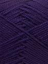 Fiber Content 100% Acrylic, Brand ICE, Dark Purple, Yarn Thickness 2 Fine  Sport, Baby, fnt2-23596