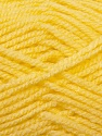 Worsted  Fiber Content 100% Acrylic, Light Yellow, Brand ICE, Yarn Thickness 4 Medium  Worsted, Afghan, Aran, fnt2-23724