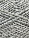 Worsted  Fiber Content 100% Acrylic, Brand ICE, Grey, Yarn Thickness 4 Medium  Worsted, Afghan, Aran, fnt2-23889