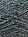 Worsted  Fiber Content 100% Acrylic, Brand ICE, Dark Grey, Yarn Thickness 4 Medium  Worsted, Afghan, Aran, fnt2-23890