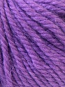 Fiber Content 40% Acrylic, 35% Wool, 25% Alpaca, Purple, Brand ICE, Yarn Thickness 5 Bulky  Chunky, Craft, Rug, fnt2-25450