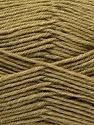 Fiber Content 100% Virgin Wool, Khaki, Brand ICE, Yarn Thickness 3 Light  DK, Light, Worsted, fnt2-25657