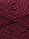 Fiber Content 100% Virgin Wool, Brand ICE, Burgundy, Yarn Thickness 3 Light  DK, Light, Worsted, fnt2-25662