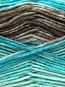 Fiber Content 45% Wool, 45% Bamboo, 10% Acrylic, Turquoise, Brand ICE, Camel, Brown, Yarn Thickness 3 Light  DK, Light, Worsted, fnt2-25989