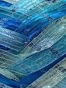 Fiber Content 90% Micro Fiber, 10% Metallic Lurex, Turquoise, Brand ICE, Blue, Yarn Thickness 6 SuperBulky  Bulky, Roving, fnt2-30928