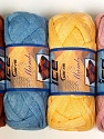 Solid Colors A fresh scarf  yarn wiith cotton content. Shiny and fresh! Fiber Content 70% Cotton, 30% Nylon, Mambo, Brand ICE, Yarn Thickness 6 SuperBulky  Bulky, Roving, fnt2-31348