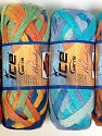A fresh scarf  yarn wiith cotton content. Shiny and fresh! Fiber Content 70% Cotton, 30% Nylon, Mambo, Brand ICE, Yarn Thickness 6 SuperBulky  Bulky, Roving, fnt2-31352