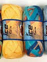 A fresh scarf  yarn wiith cotton content. Shiny and fresh! Fiber Content 70% Cotton, 30% Nylon, Mambo, Brand ICE, Yarn Thickness 6 SuperBulky  Bulky, Roving, fnt2-31353