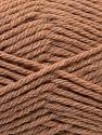 Fiber Content 70% Acrylic, 20% Wool, 10% Linen, Light Brown, Brand ICE, Yarn Thickness 4 Medium  Worsted, Afghan, Aran, fnt2-32439