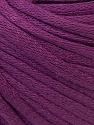 This is a tube-like yarn with soft cotton fleece filled inside. Fiber Content 70% Cotton, 30% Polyester, Purple, Brand ICE, Yarn Thickness 5 Bulky  Chunky, Craft, Rug, fnt2-32502