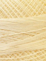 Fiber Content 100% Mercerised Cotton, Light Yellow, Brand ICE, Yarn Thickness 0 Lace  Fingering Crochet Thread, fnt2-32513