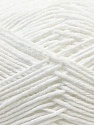 Fiber Content 50% Acrylic, 50% Cotton, White, Brand ICE, Yarn Thickness 3 Light  DK, Light, Worsted, fnt2-32782