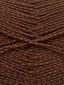 Fiber Content 94% Acrylic, 6% Lurex, Brand ICE, Copper, Brown, Yarn Thickness 3 Light  DK, Light, Worsted, fnt2-33067