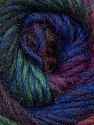 A self-striping yarn, which gets its design when knitted Fiber Content 100% Wool, Purple Shades, Brand KUKA, Green Shades, Yarn Thickness 4 Medium  Worsted, Afghan, Aran, fnt2-34503
