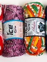 Please note that the weight and yardage information for this lot is approximate Scarf Yarns, Brand ICE, Yarn Thickness 6 SuperBulky  Bulky, Roving, fnt2-34793