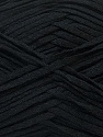 Fiber Content 50% Cotton, 50% Acrylic, Brand ICE, Black, Yarn Thickness 3 Light  DK, Light, Worsted, fnt2-34900