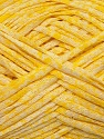 Fiber Content 50% Cotton, 50% Acrylic, Yellow, White, Brand ICE, Yarn Thickness 3 Light  DK, Light, Worsted, fnt2-34920