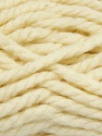 Fiber Content 50% Dralon, 50% Wool, Brand ICE, Cream, Yarn Thickness 6 SuperBulky  Bulky, Roving, fnt2-35013