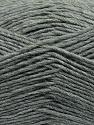 Fiber Content 50% Acrylic, 50% Wool, Brand ICE, Grey, Yarn Thickness 3 Light  DK, Light, Worsted, fnt2-35020