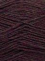 Fiber Content 50% Acrylic, 50% Wool, Maroon Melange, Brand ICE, Yarn Thickness 3 Light  DK, Light, Worsted, fnt2-35029