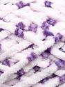 Fiber Content 100% Micro Fiber, White, Purple, Lilac, Brand ICE, Yarn Thickness 4 Medium  Worsted, Afghan, Aran, fnt2-35168
