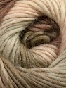 A self-striping yarn, which gets its design when knitted Fiber Content 100% Wool, Brand KUKA, Khaki, Cream, Camel, Yarn Thickness 4 Medium  Worsted, Afghan, Aran, fnt2-35438