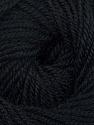 Fiber Content 60% Premium Acrylic, 40% Merino Wool, Brand ICE, Black, Yarn Thickness 2 Fine  Sport, Baby, fnt2-35561