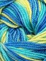 Fiber Content 60% Premium Acrylic, 40% Merino Wool, Yellow, Turquoise, Brand ICE, Blue, Yarn Thickness 2 Fine  Sport, Baby, fnt2-35580