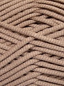 This is a tube-like yarn with soft fleece inside. Fiber Content 73% Viscose, 27% Polyester, Brand ICE, Camel, Yarn Thickness 5 Bulky  Chunky, Craft, Rug, fnt2-35601