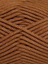 This is a tube-like yarn with soft fleece inside. Fiber Content 73% Viscose, 27% Polyester, Brand ICE, Brown, Yarn Thickness 5 Bulky  Chunky, Craft, Rug, fnt2-35602