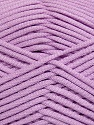 This is a tube-like yarn with soft fleece inside. Fiber Content 73% Viscose, 27% Polyester, Light Lilac, Brand ICE, Yarn Thickness 5 Bulky  Chunky, Craft, Rug, fnt2-35607