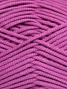 This is a tube-like yarn with soft fleece inside. Fiber Content 73% Viscose, 27% Polyester, Orchid, Brand ICE, Yarn Thickness 5 Bulky  Chunky, Craft, Rug, fnt2-35611