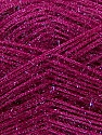 Fiber Content 60% Polyester, 40% Lurex, Brand ICE, Dark Fuchsia, Yarn Thickness 5 Bulky  Chunky, Craft, Rug, fnt2-35791