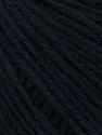 Fiber Content 50% Wool, 50% Acrylic, Brand ICE, Dark Navy, Black, Yarn Thickness 4 Medium  Worsted, Afghan, Aran, fnt2-35908