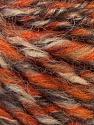 Fiber Content 50% Merino Wool, 25% Acrylic, 25% Alpaca, Orange, Brand ICE, Camel, Brown, Yarn Thickness 5 Bulky  Chunky, Craft, Rug, fnt2-36059