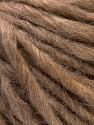 Fiber Content 50% Merino Wool, 25% Acrylic, 25% Alpaca, Light Brown, Brand ICE, Yarn Thickness 5 Bulky  Chunky, Craft, Rug, fnt2-36063