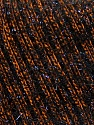 Fiber Content 65% Polyester, 35% Metallic Lurex, Brand ICE, Brown, Black, Yarn Thickness 4 Medium  Worsted, Afghan, Aran, fnt2-36169