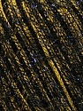 Fiber Content 65% Polyester, 35% Metallic Lurex, Yellow, Brand ICE, Black, Yarn Thickness 4 Medium  Worsted, Afghan, Aran, fnt2-36170