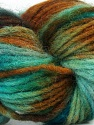 In this yarn a 100% Wool yarn is used. Dyeing process is totally hand made with natural plants and NO chemicals were used. For this reason, please be advised that some white parts may remain. Fiber Content 100% Wool, Turquoise, Brand ICE, Brown Shades, fnt2-36263