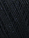 Fiber Content 70% Acrylic, 20% Metallic Lurex, 10% Cotton, Yarn Thickness Other, Brand ICE, Black, fnt2-36266