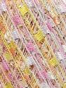 Trellis  Fiber Content 95% Polyester, 5% Lurex, Yellow, White, Pink, Brand ICE, fnt2-36475