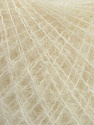 Knitted as 4 ply Fiber Content 40% Polyamide, 30% Kid Mohair, 30% Acrylic, Brand ICE, Cream, fnt2-36522