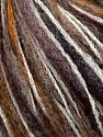 Fiber Content 36% Wool, 30% Acrylic, 20% Polyamide, 14% Mohair, White, Brand ICE, Brown Shades, fnt2-36541