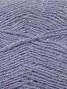 Fiber Content 70% Acrylic, 5% Lurex, 25% Angora, Silver, Lilac, Brand ICE, fnt2-36561