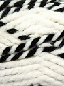 Fiber Content 65% Acrylic, 35% Wool, White, Brand ICE, Black, fnt2-36601